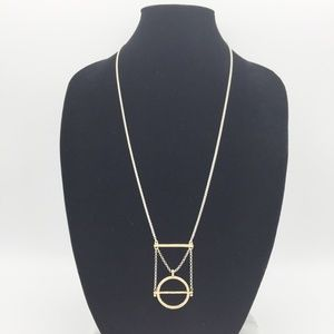 Lucky Brand Mixed Metal Necklace D03